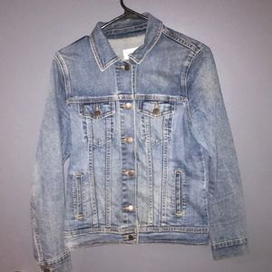 Medium wash jean jacket